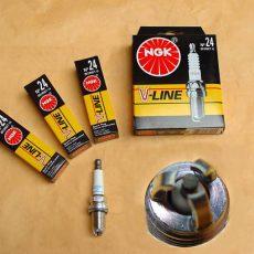 Zapaľovacie sviečky 4kusy, Audi A4+A6 od do: 94 BKUR6ET-10 V-Line 24,