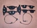 Brzdové platničky predné + zadné so snímačom  BMW E60 + E61 od modelov 535d, 540i, 550i, M5