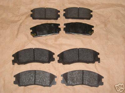 2x Brzdové platničky Hyundai Terracan predné+zadné komplet