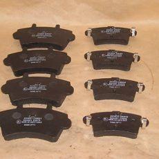 2x Brzdové platničky Opel Movano+Renault Master predné+ zadné
