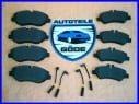 Brzdové destičky přední + zadní se snímači VW Sprinter + VW Crafter od: 2006