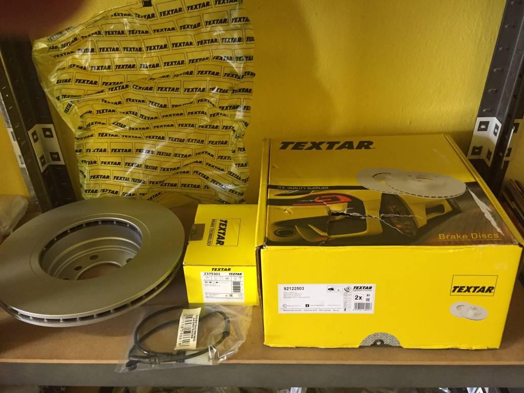 Brzdové kotúče + platničky so snímačom predné Textar BMW E60-E61